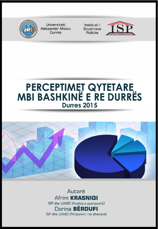 PERCEPTIME QYTETARE MBI BASHKINE E RE DURRES, 2015
