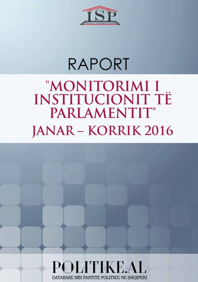 RAPORT I MONITORIMIT MBI DBP 2016